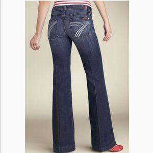 "7FAM   Medium Wash Dojo Jeans w/ White ""7"" Detail"